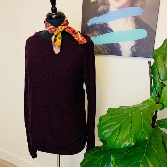 ♻️🌺Wildred Free | Purple Knit Hooded Sweater